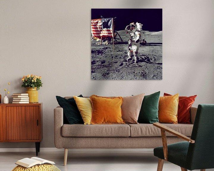 Sfeerimpressie: Eerste man op de maan, 1969 van Moondancer .