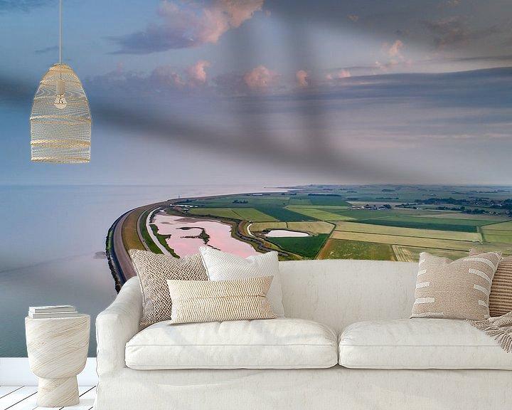 Sfeerimpressie behang: Roze Wagejot 2017 Texel van Texel360Fotografie Richard Heerschap