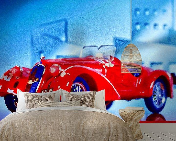 Sfeerimpressie behang: Bella Macchina - Alfa Romeo 2300 anno 1938 van Jean-Louis Glineur alias DeVerviers