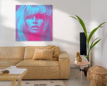 Brigitte Bardot - Love - 24 Colours - Neon Blue - Game von Felix von Altersheim