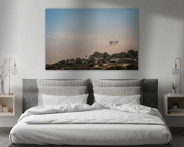 Mervilla Costa del sol met uitzicht op flats van Fuengirola fotoposter of  wanddecoratie