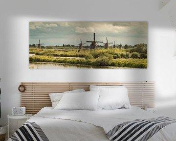 Panorama Kinderdijk van Mark den Boer