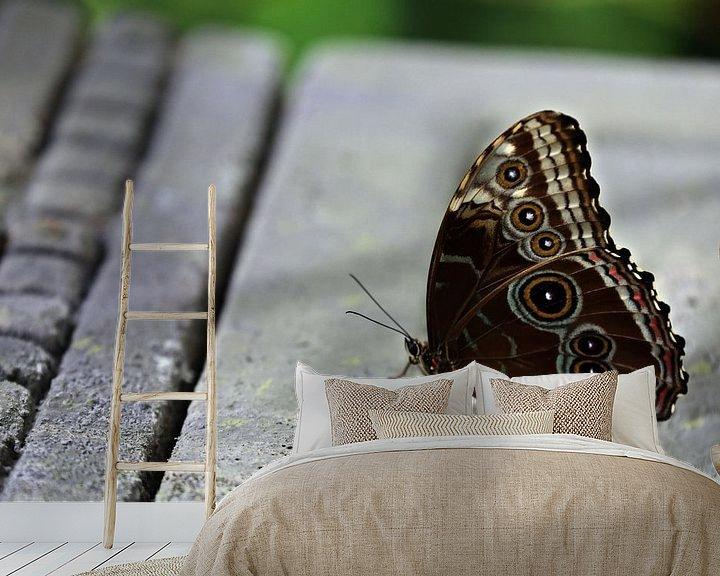 Sfeerimpressie behang: Vlinder van Jeroen Koppes