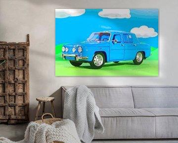 Deko für das Kinderzimmer - blaues Auto von Jean-Louis Glineur alias DeVerviers