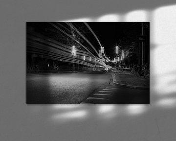 Groningen in de avond van Merjan Merjan