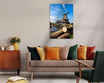 Windmolen De Rat in de stad IJlst in Friesland. Wout Kok One2expose Photography von Wout Kok