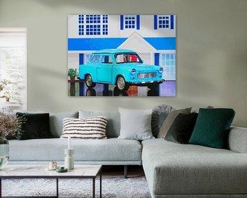 Kinderzimmer: Blauer Trabbi van Jean-Louis Glineur alias DeVerviers