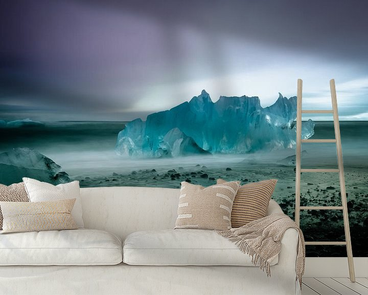 Sfeerimpressie behang: IJsschots op Diamond Beach van Erwin Maassen van den Brink