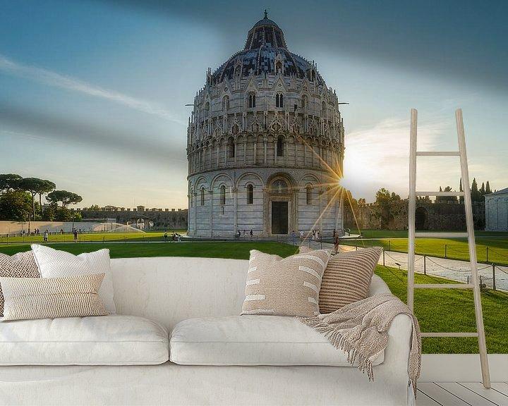 Sfeerimpressie behang: Het Baptisterium van Pisa van Roelof Nijholt