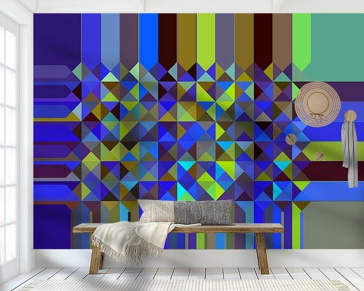 Beispiel fototapete: Dreieck Muster 05 von Marion Tenbergen