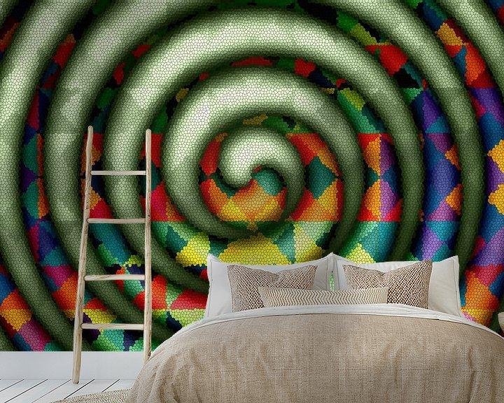 Beispiel fototapete: Spirale-grün von Marion Tenbergen