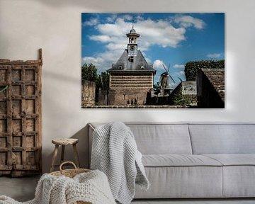 Dalempoort en molen 'De Hoop', Gorinchem van Gerrit Veldman