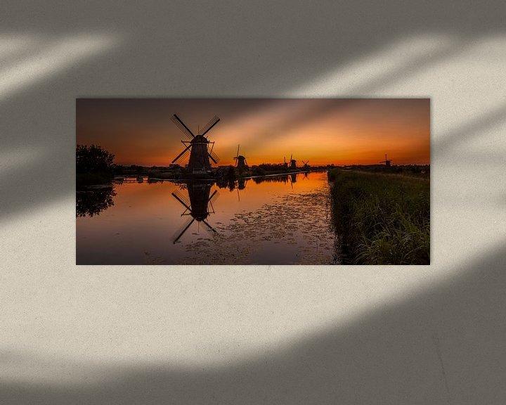 Sfeerimpressie: Oranje Kinderdijk van Marc Smits