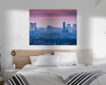 Sonnenuntergang Skyline Utrecht von Mart Gombert