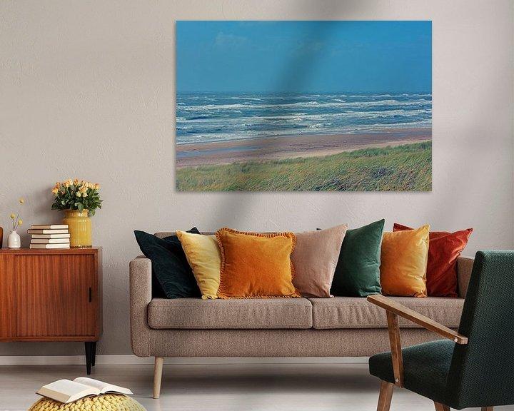 Sfeerimpressie: Egmond aan Zee -duinen, strand, zee en lucht. van Ronald Smits