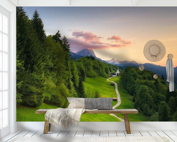 Sfeerimpressie behang: Mountain Village Wamberg (St. Anna) van Dirk Wiemer