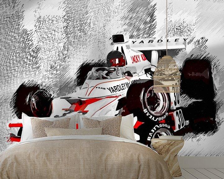 Sfeerimpressie behang: Yardley McLaren M23 driven by Jacky Ickx van Jean-Louis Glineur alias DeVerviers