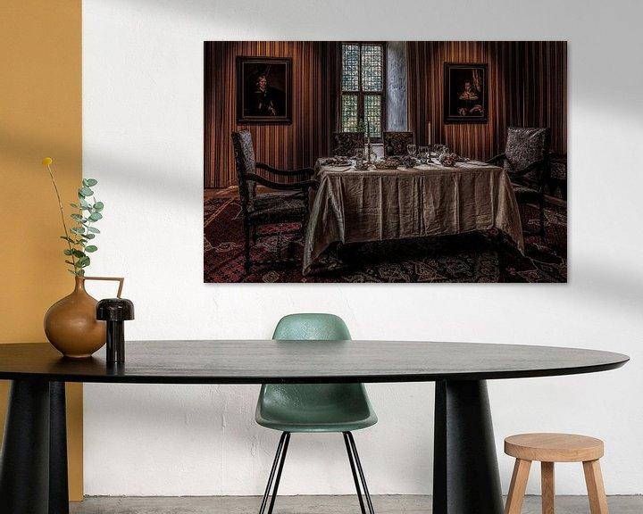 Sfeerimpressie: De eetkamer in kasteel Doorwerth van Tim Abeln
