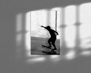 Een skater in Barcelona von Brenda Reimers