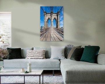 NEW YORK CITY Brooklyn Bridge & Stahlseile von Melanie Viola