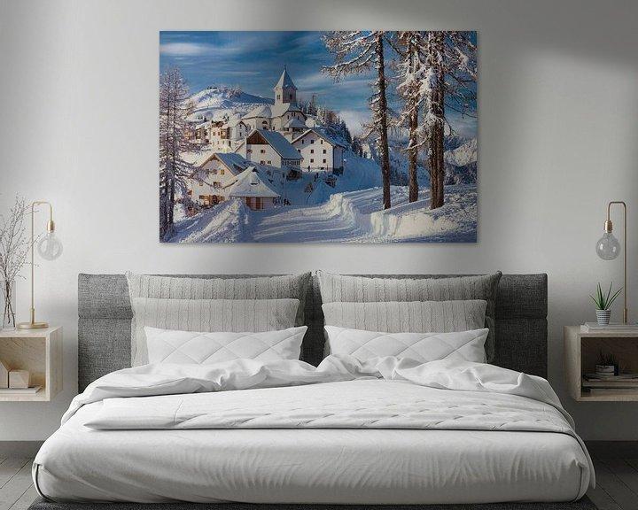 Impression: Paysage d'hiver italien. sur Giovanni della Primavera