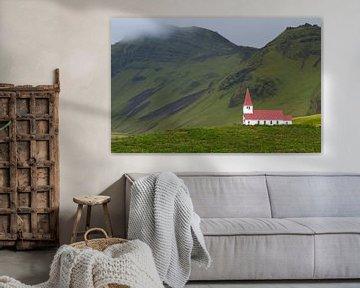Kirche in Vik in Island von Menno Schaefer