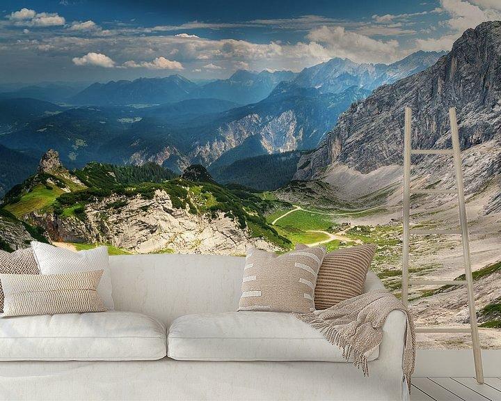 Sfeerimpressie behang: Alpspitze bij Garmisch Partenkirchen van Ilya Korzelius
