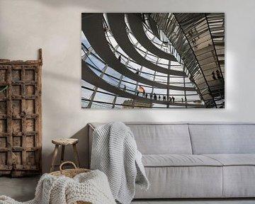 De koepel van de Reichstag von Jim van Iterson