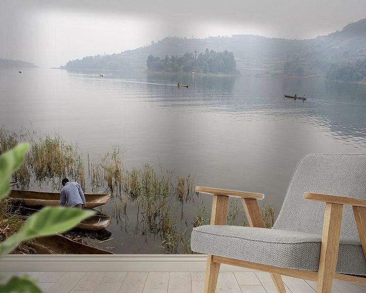 Sfeerimpressie behang: Stilte op het meer van Jim van Iterson