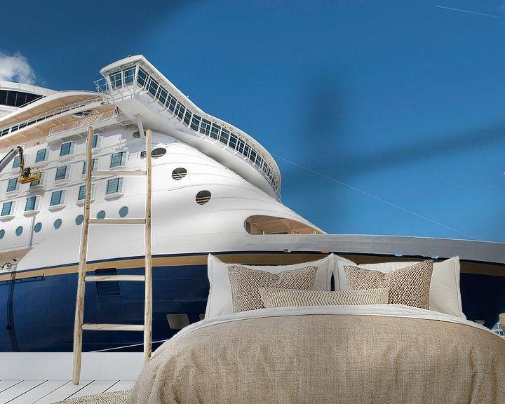 Sfeerimpressie behang: cruise schip in de haven van Kiel van Compuinfoto .