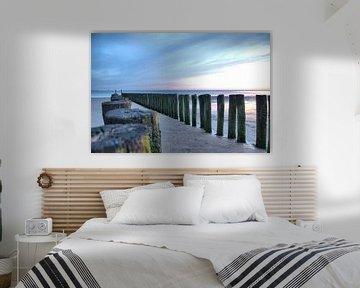 Paalhoofden aan de Zeeuwse kust van Zeeuwse fotograaf