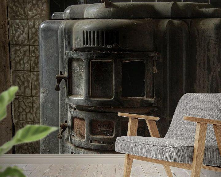 Beispiel fototapete: Een oude kachel in een verlaten huis von Melvin Meijer