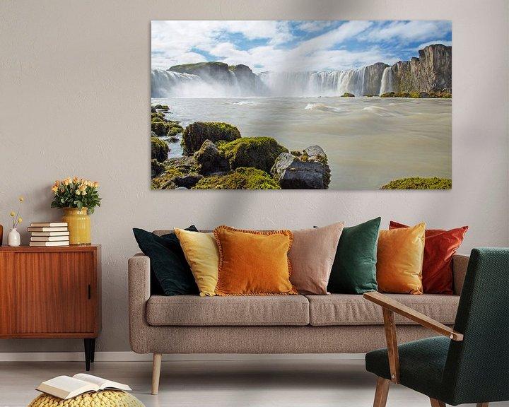 Sfeerimpressie: Godafoss IJsland van Menno Schaefer