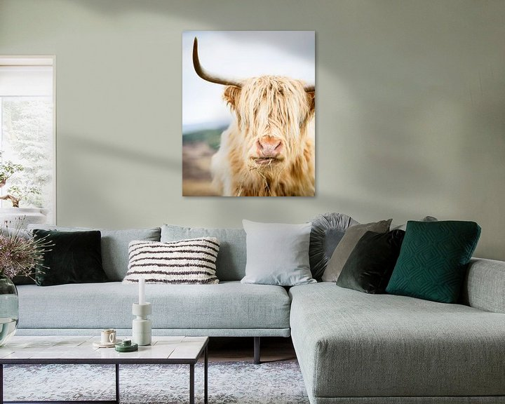 Sfeerimpressie: Portret van een Schotse Hooglander van Marloes van Pareren