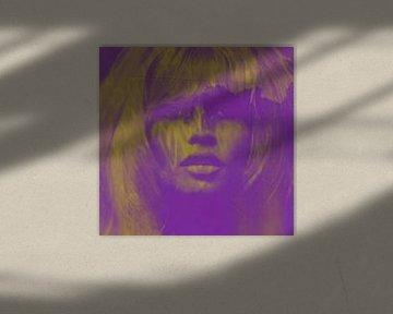 Brigitte Bardot - Love - 24 Colours - Lila Game  von Felix von Altersheim