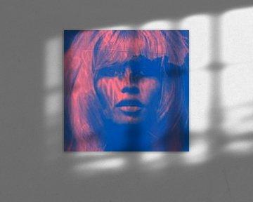 Brigitte Bardot - Love - 24 Colours - Blue Game  van Felix von Altersheim