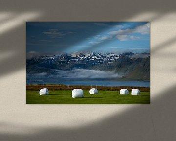 Besneeuwde bergtoppen in IJsland van Menno Schaefer