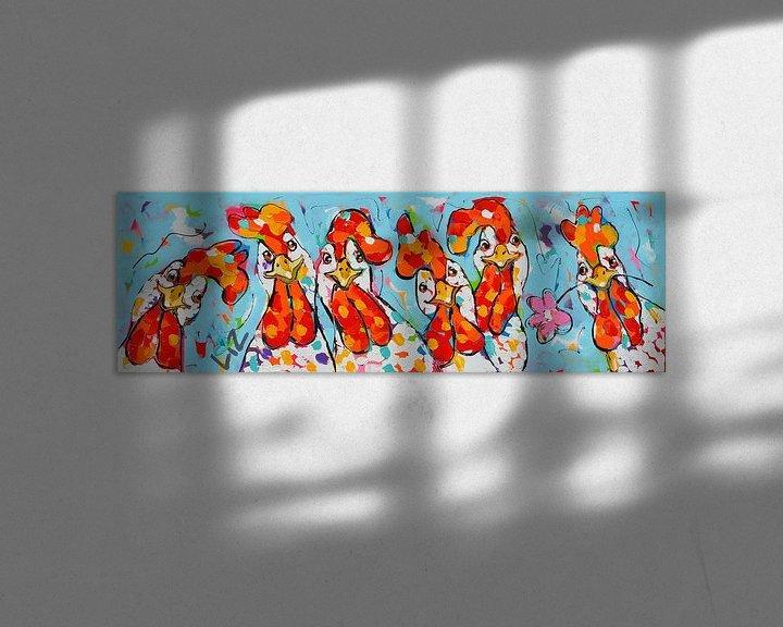 Beispiel: Chicken Girls von Vrolijk Schilderij