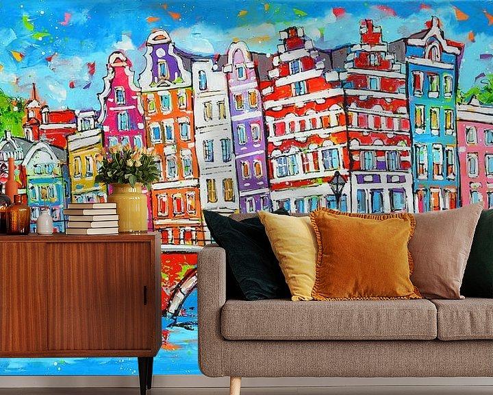 Beispiel fototapete: Amsterdam von Vrolijk Schilderij