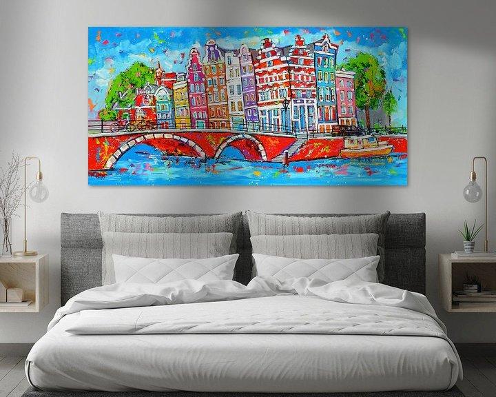 Beispiel: Amsterdam von Vrolijk Schilderij