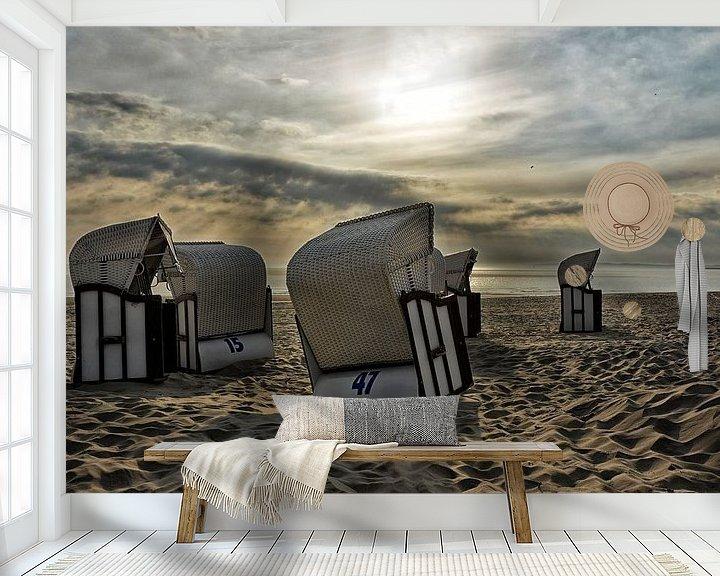 Beispiel fototapete: Strandkörbe im Sonnenaufgang von Joachim G. Pinkawa