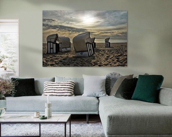 Beispiel: Strandkörbe im Sonnenaufgang von Joachim G. Pinkawa