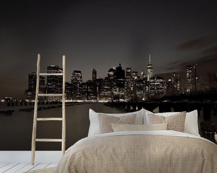 Sfeerimpressie behang: Skyline New York 4 van Bert Nijholt