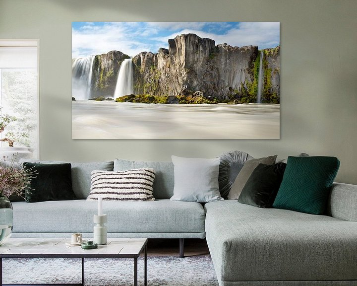 Sfeerimpressie: Godafoss waterval in IJsland van Menno Schaefer