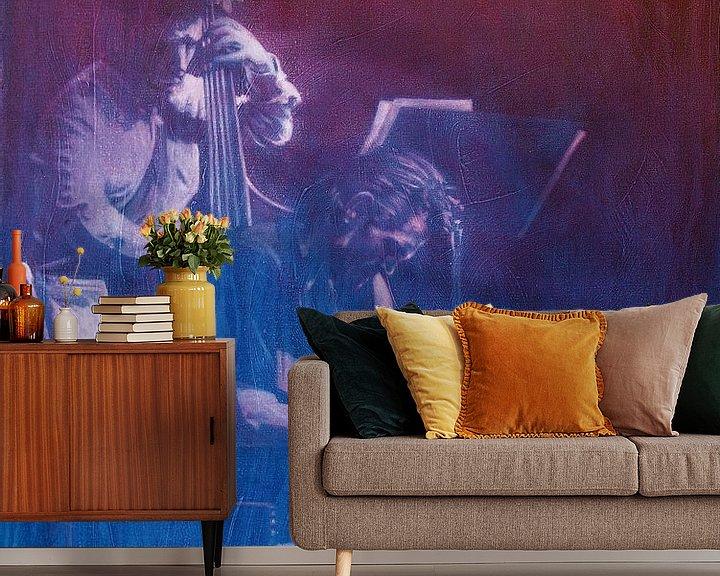 Sfeerimpressie behang: Chet Baker van Frans Mandigers