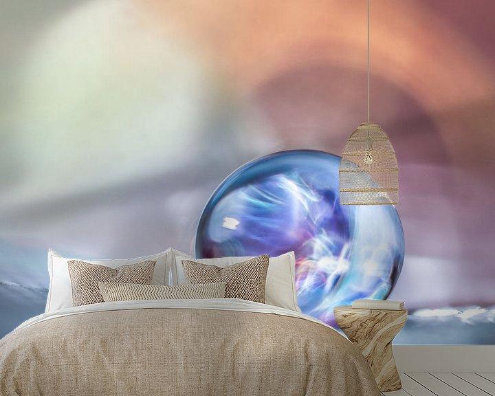 Sfeerimpressie behang: 2 mm druppel met lichteffect van Bert Nijholt