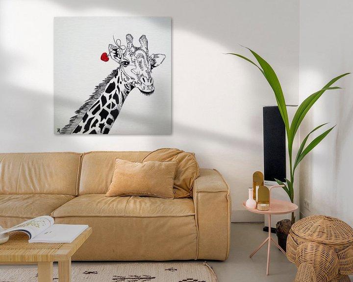 Sfeerimpressie: HeartFlow Giraffe van Helma van der Zwan