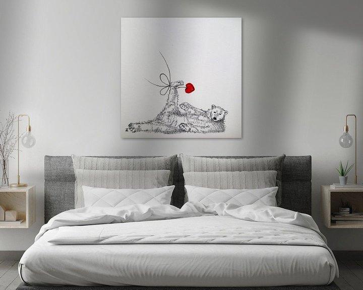 Sfeerimpressie: HeartFlow ijsbeer van Helma van der Zwan