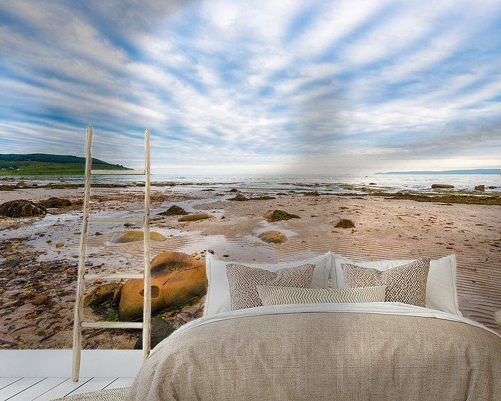 Beispiel fototapete: strand en lucht op Arran in Schotland von Rob IJsselstein