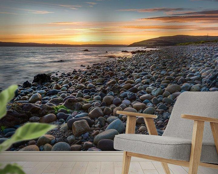 Beispiel fototapete: Stenen in het licht van een zonsondergang von Rob IJsselstein